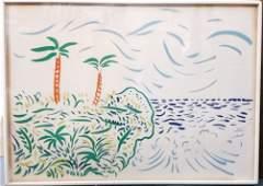 David Hockney Color Lithograph Pencil Signed ed100