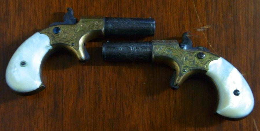 Historic Remington Derringer Guns LA History Provenance