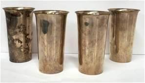 Preisner Vintage Sterling Silver Set 4 Mint Julep Cups