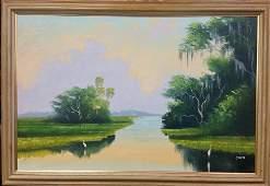 Livingston Roberts Florida Highwaymen Original Painting