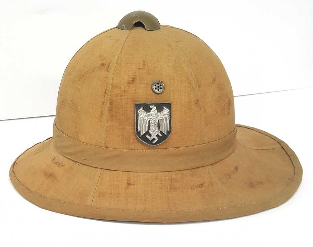 2c3dde4636fd7 Rare Italian Pith Helmet Used By German Army Military