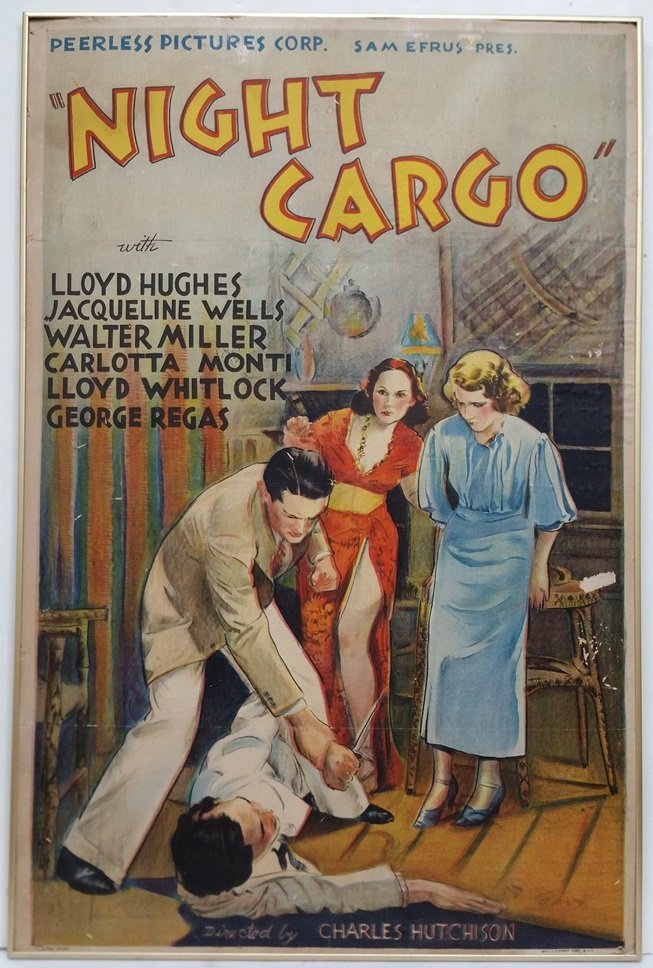 Orig Night Cargo One Sheet Movie Poster Lithograph