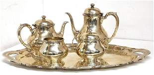 167ozt Frank W. Smith Chippendale Sterling Silver Tea
