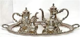 Antique Sterling Silver Repousse Alt Heidelberg German