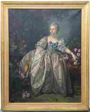 Painting Madame Bergeret Thelma DeAtley after Boucher