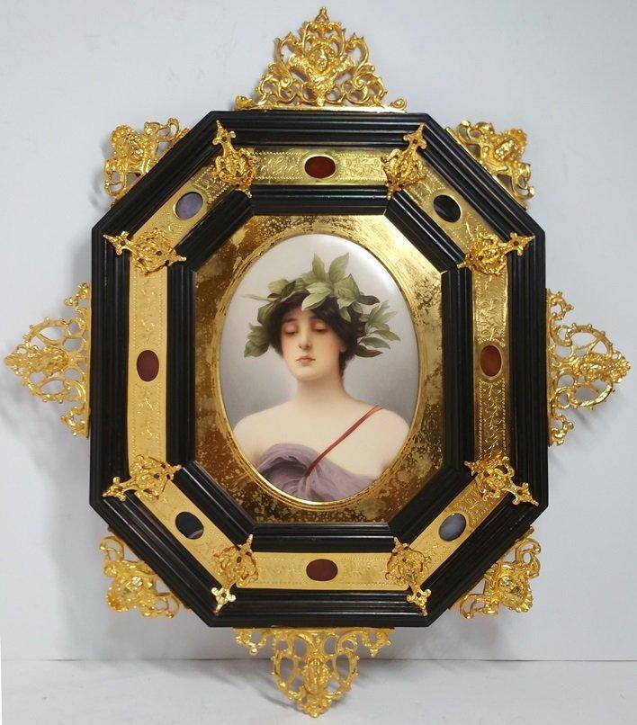 Daphne after Wagner Laurel Wreath Handpainted Porcelain