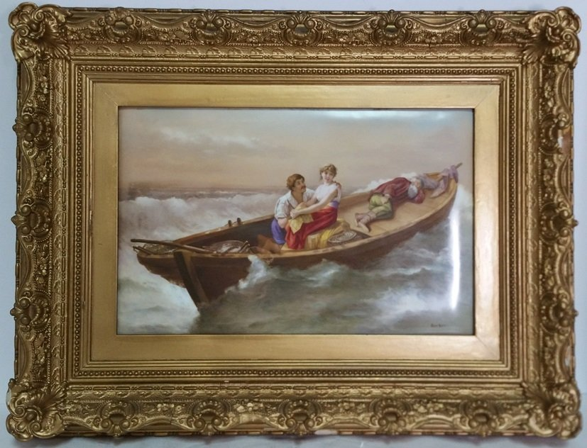 Fishermans Daughter Porcelain Hand Painted Plaque