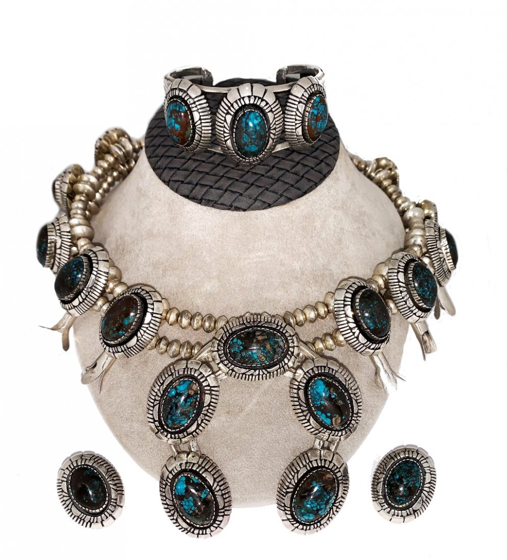 Suite of Native American Sterling Silver & Turquoise