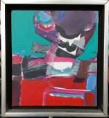 Original Syd Solomon Abstract Painting Sea Signal 2