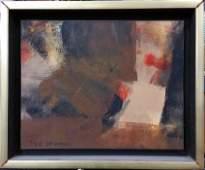 Abstract Painting Original Syd Solomon Dune Lights 1972