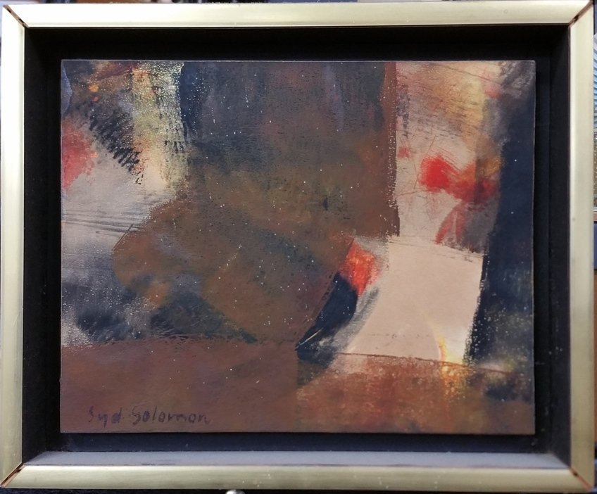 Abstract Painting Original Syd Solomon Dune Lights 1972