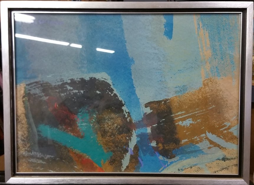 Syd Solomon Original Abstract Painting Reefcut 1972