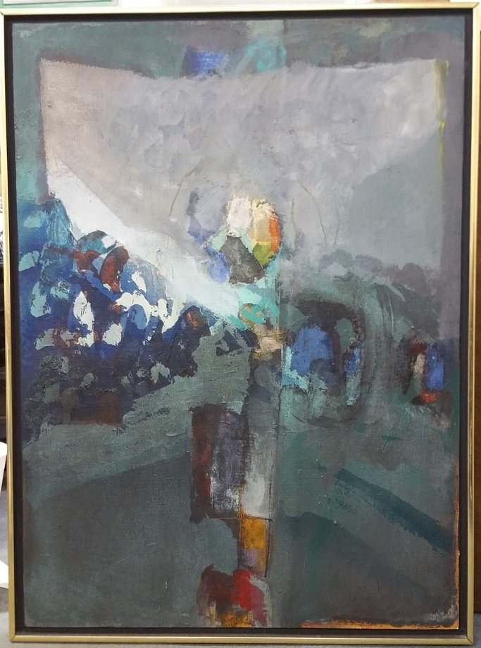 Syd Solomon Abstract Painting Shorenight Notice 1967