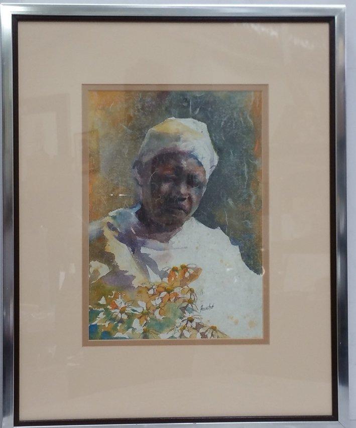 Virginia Fouche Bolton Watercolor Female Portrait
