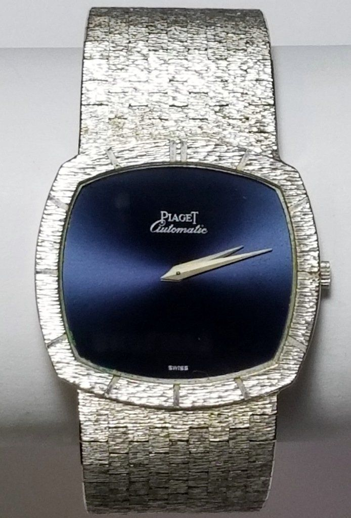Heavy 105.1g 18k White Gold Piaget Automatic TV Screen