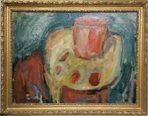 Still Life Mary Anne Jenkins Abstract Oil Painting COA