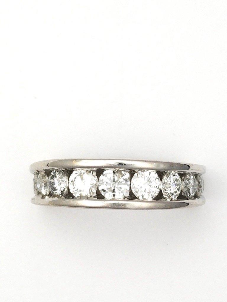 Fine White Diamond Anniversary Wedding Band Ring 14k Wh