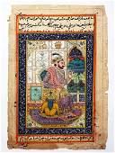 Antique Mughal Empire Indian Kashmir Painted Manuscript