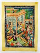 Antique Mughal Empire Bacchanal Scene