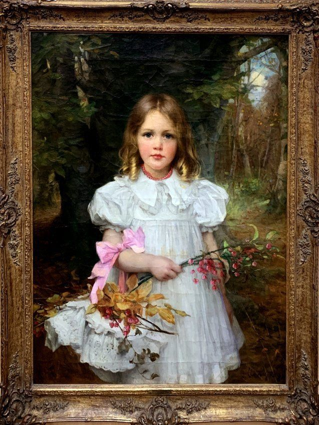 Sir William Llewellyn Young Girl Large Oil Painting