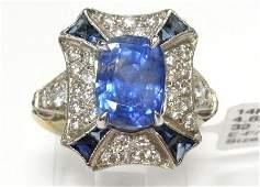 Stunning 462ct Natural Blue Sapphire Large Platinum Ar