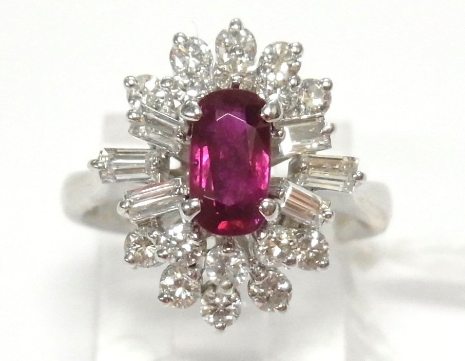 1950s Natural 1ct Ruby 1.40ctw Diamond 14k Gold Ring