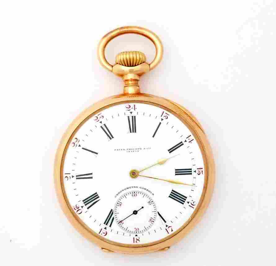 18k Rose Gold Patek Philippe Pocket Watch 137342