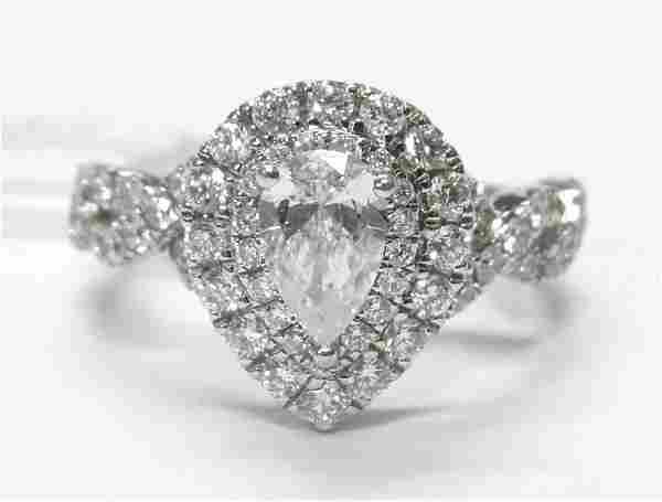 Neil Lane 1.75ctw Pear Cut Diamond 14k White Gold Halo