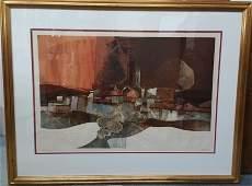Alvar Sunol Munoz Ramos Lithograph Relief Signed