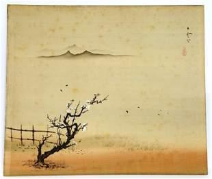 Landscape Silk Painting Chinese Japanese Plum Blossom