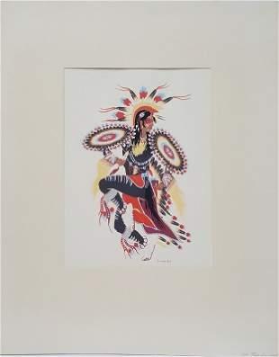Woody Crumbo Native American Potawatomi The Tail Dancer