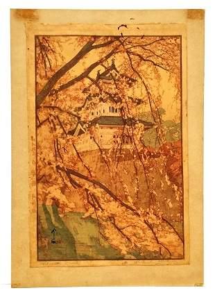 Hirosaki Castle Original Hiroshi Yoshida Woodblock