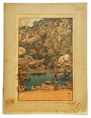 Arashiyama Hiroshi Yoshida Original Woodblock Print