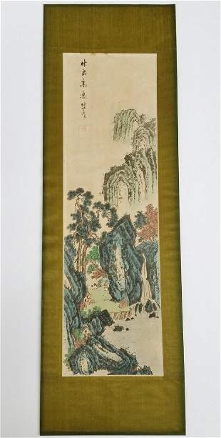 Striking Vintage Chinese Springtime Leisure Painting