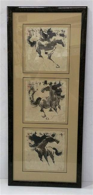 Chinese Horse Ink Paintings John H Chen