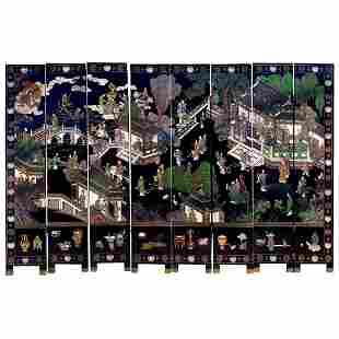 Massive Vintage Antique Japanese Carved Wood Screen