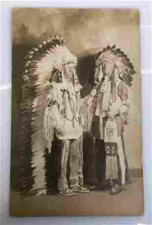 Black Hills SIOUX Plains 1920s Native American Portrait