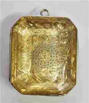 14k Gold George III Scottish 100ctw Citrine Vinaigrette
