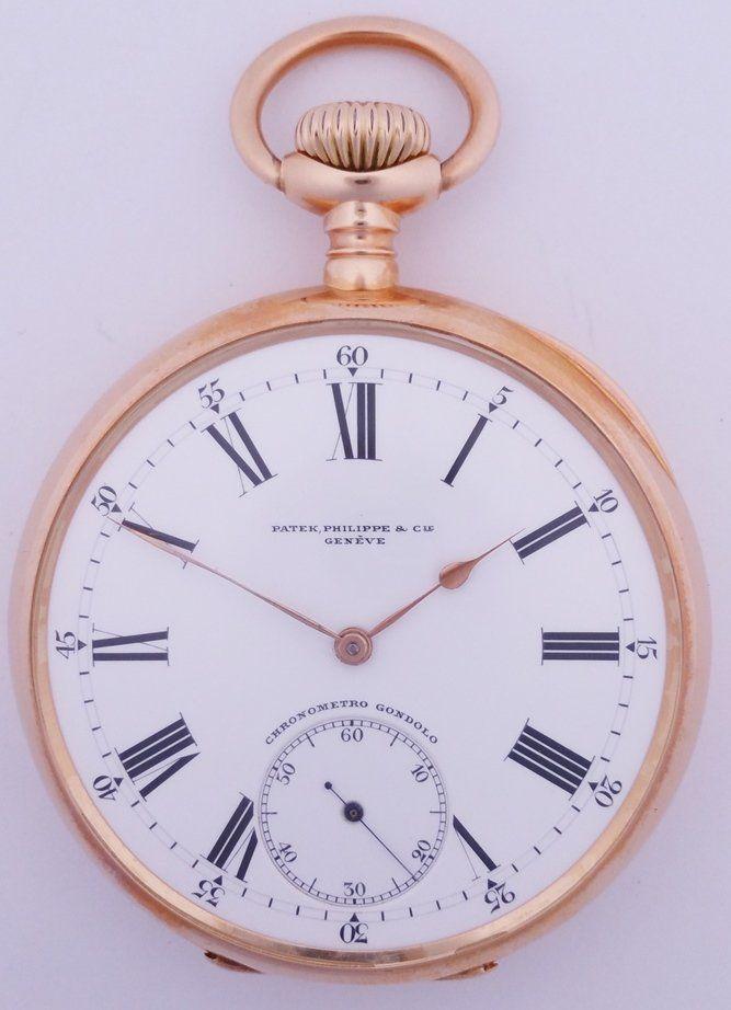 Huge18k Rose Gold Patek Philippe Antique Pocket Watch
