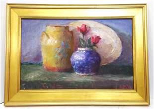American School Hilda Neily Blue Ginger Jar Painting
