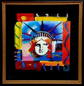 Peter Max Liberty Suite Panel A #24 A/S/P Painted Print