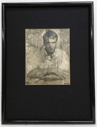Vintage Black and White Photograph Man Portrait