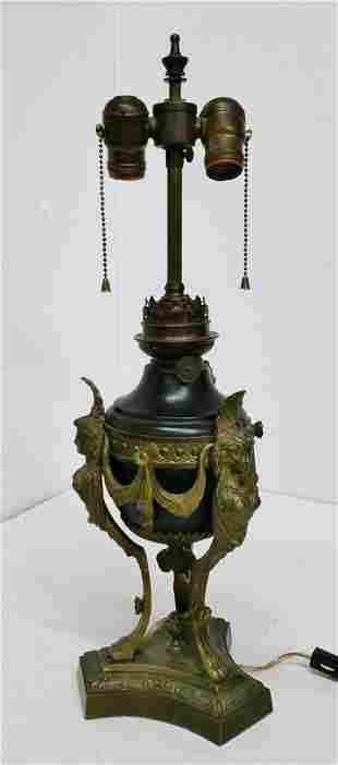 Antique Kosmos Egyptian Revival Continental Lamp