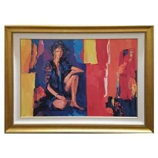 Nicola Simbari Racquel Canvas Serigraph ed 175