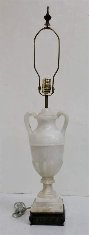 Italian Continental Alabaster Neoclassical Urn Lamp