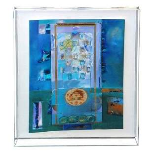 Lg Abstract Mixed Media Shadow Box Sometimes You Know