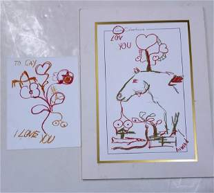 2 Armand Illustrations Works On Paper Loose And Matted