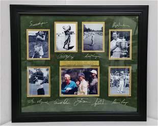 Legends Of Golf Photo Signature Collectors Display