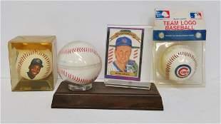 Lot of 3 Chicago Cubs Baseball Memorabilia Baseballs
