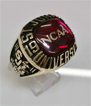 1993 St Johns Redmen Big East 10k Gold NCAA Ring